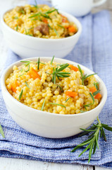 .Cous cous with pumpkin