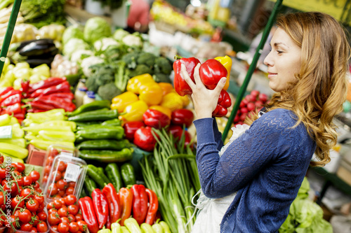 Young woman at the market