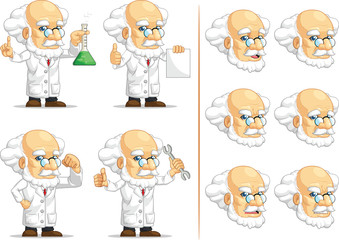Scientist or Professor Customizable Mascot 2