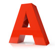 3d red letter - A
