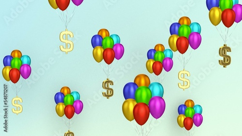 Dollar Signs With Balloons