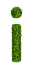 Natural grass letter i lowercase