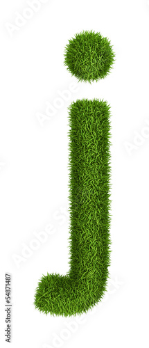 Natural grass letter j lowercase