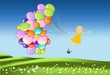 podróż z balonami
