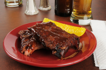 Baby backribs and beer