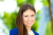 Smiling businesswoman outdoor