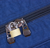 Padlock on zipper