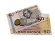 Шведские банкноты и монеты.