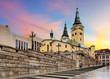 Zilina street - Trinity Cathedral, Slovakia