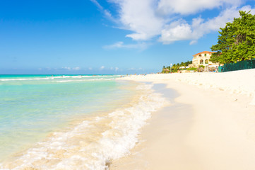 The beach of Varadero in Cuba