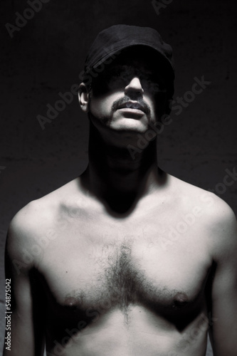 Anonymous Topless Mustache Man