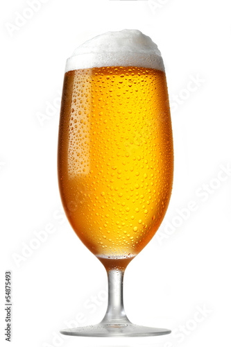 Foto op Canvas Bier / Cider glass of beer