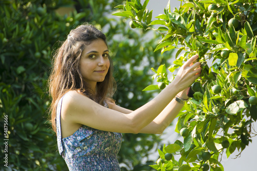 Beautiful woman on Garden