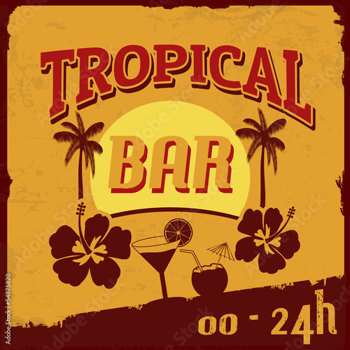 Tropical bar poster