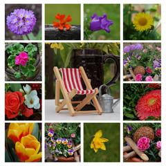 Blumen Collage Harmonie Garten