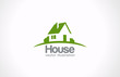 Logo House abstract real estate countryside. Realty icon - 54876890