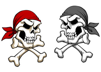 Danger pirate skull