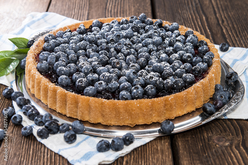 Fresh Blueberry Tart with fruits