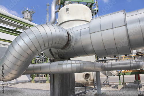Steel pipe line with hot  insulation