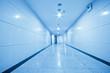 long corridor, modern building interiors