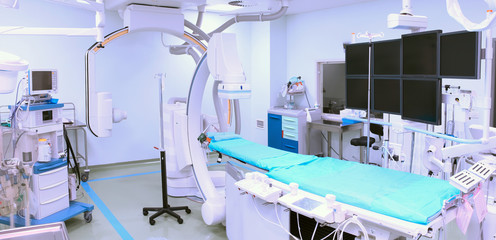 Operating room with advanced equipment. Interventional, Arrhythm