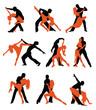 Постер, плакат: Latino dancers set