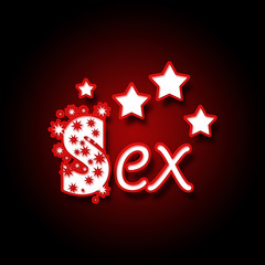 Sex in Red Black with Stars