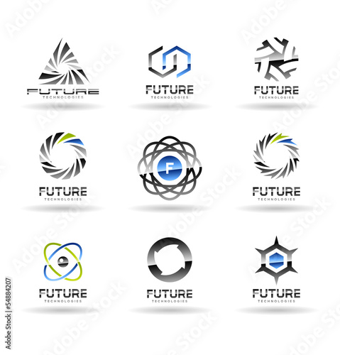 Set of Future technology icons. Vol 2.