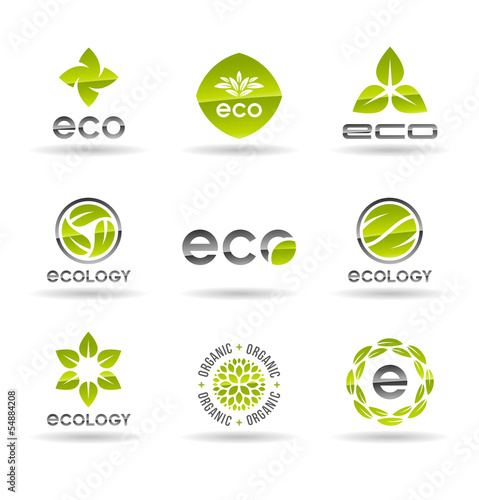 Ecology icon set. Eco-icons (8).