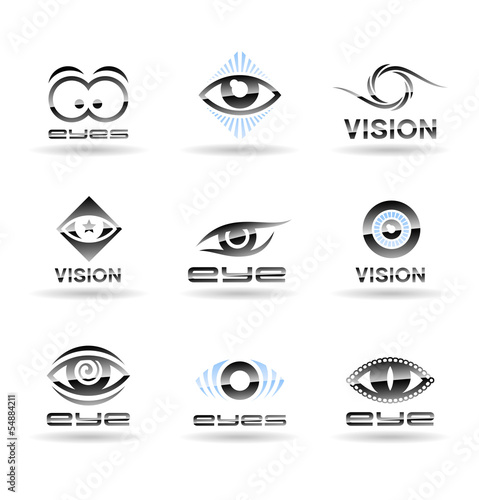 Set of eyes icons (1).