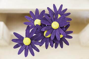 Wooden purple Flowers