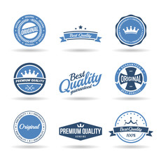Set of premium quality badges and original labels (1).
