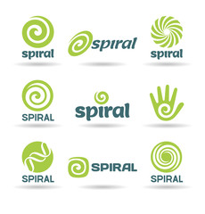 Set of spirals (1).