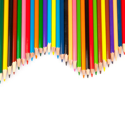 Colored sharp pencils