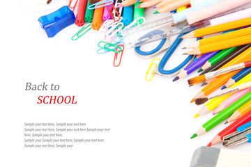 Back to school concept, Stationery