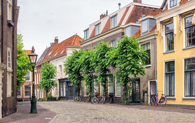 Beautiful street in Utrecht, Netherlands