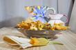 Fiori di zucchine ripiene fritte con pastella alla birra