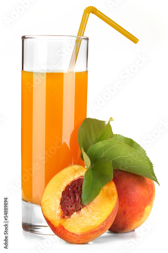 refreshing peach juice