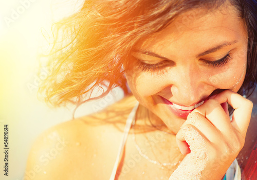 Beauty Sunshine Girl Portrait
