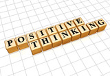 positive thinking in golden cubes