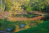 Autumn wooden bridge
