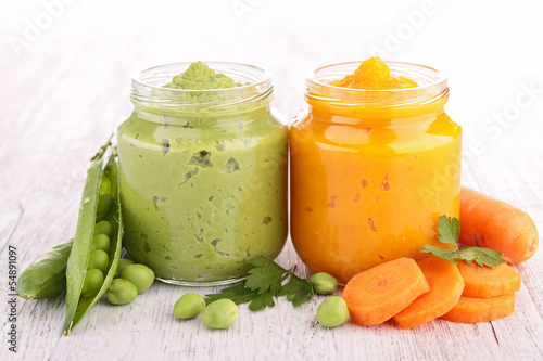 pea and carrot puree