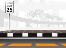 Traffic sign speed limit vector background