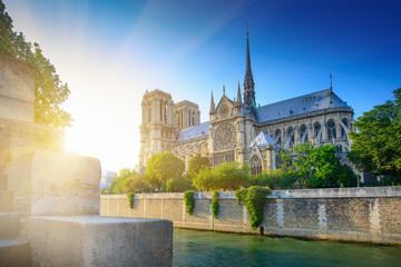 Notre Dame at sunset - Paris