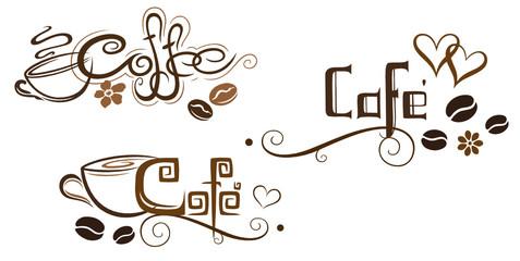 Kaffee, coffee, Kaffeetasse, Kaffeebohnen, Logos