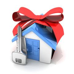 Gift home and key
