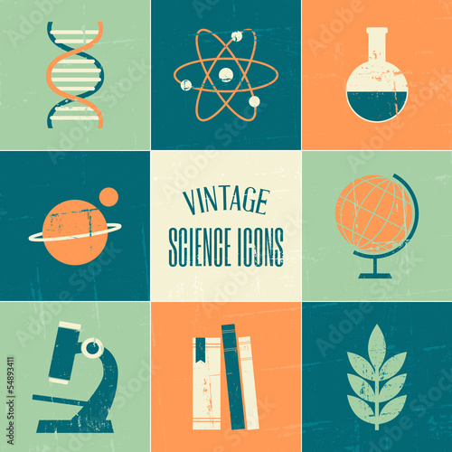 Vintage Science Icons Collection
