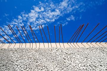 Baustahl Armierung Eisen Baustelle