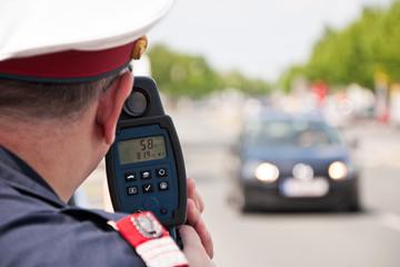 Polizei Geschwindigkeit Laser Radar Messung