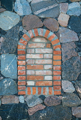 Arched brick window